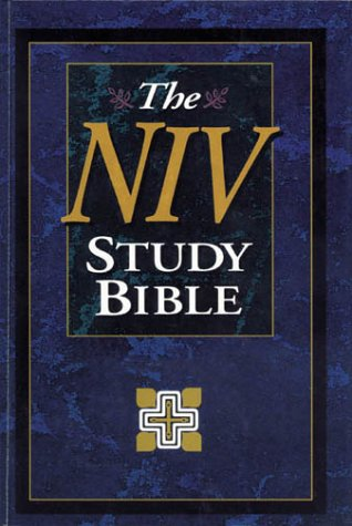 9780310925729: Holy Bible: The Niv Study Bible/10th Anniversary Edition/Intro./Navy Bonded Leather/Plain