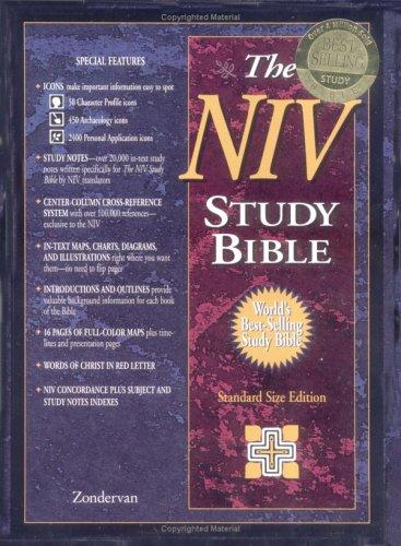 9780310925972: NIV Study Bible Indexed