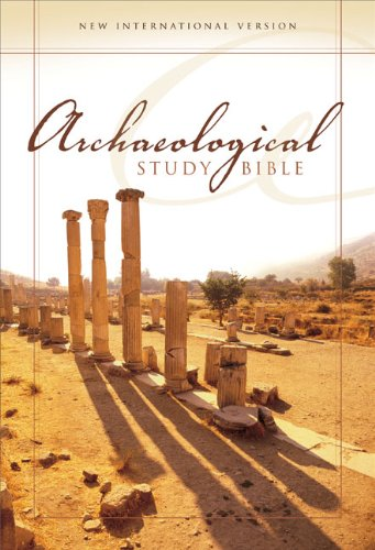 9780310926061: Archaeological Study Bible: New International Version, Burgundy, Bonded Leather, An Illustrated Walk Through Biblical History And Culture