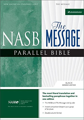 9780310927327: NASB, The Message, Parallel Bible, Bonded Leather, Black