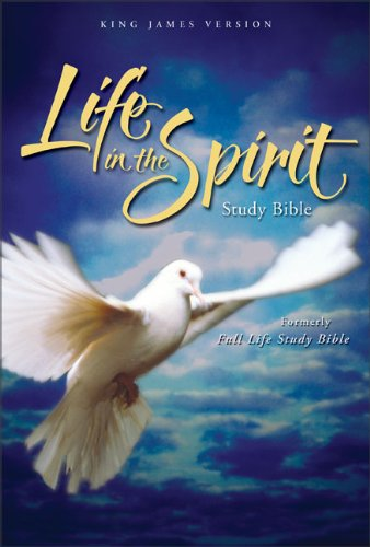 9780310927600: Life in the Spirit Study Bible: King James Version, Navy Bonded Leather