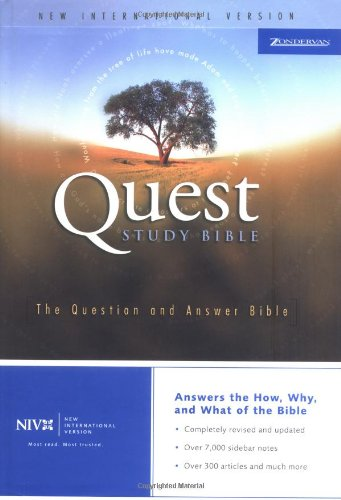 9780310928041: Quest Study Bible-NIV: The Question and Answer Bible