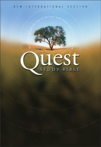 9780310928089: Quest Study Bible: New International Version Leather Black