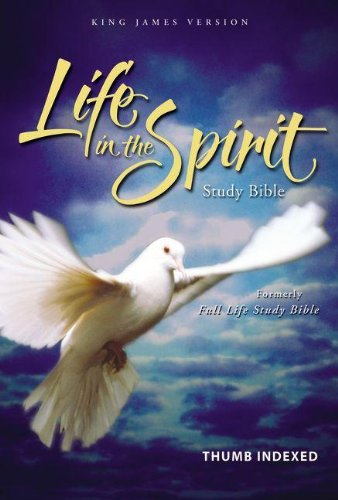 9780310928256: Life in the Spirit Study Bible: King James Version, Navy, Bonded Leather