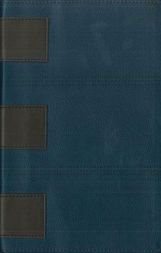 9780310928577: New Men' S Devotional Bible: New International Version,navy/chocolate, Italian Duo-tone