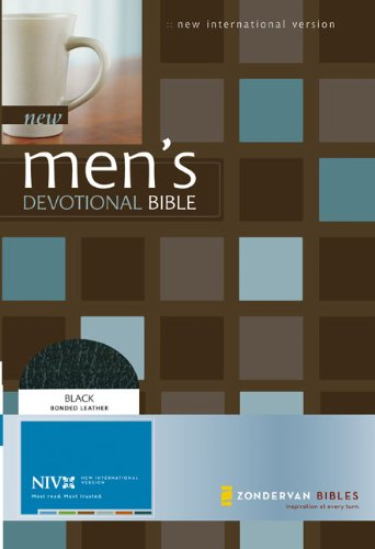 9780310928584: New Men's Devotional Bible New International Version: Black, Bonded Leather