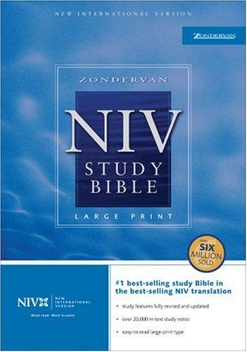 9780310929734: Zondervan NIV Study Bible, Large Print