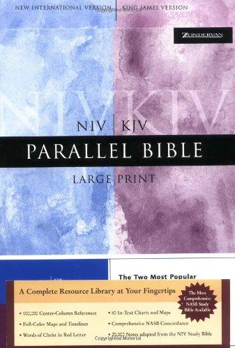 9780310929956: NIV/KJV Parallel Bible, Large Print
