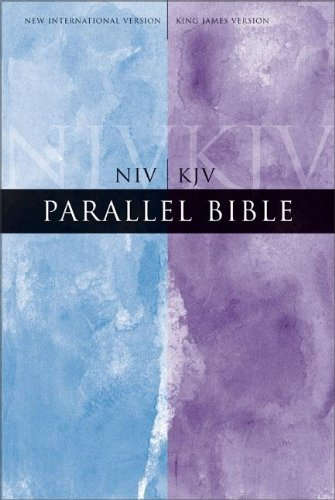 9780310929963: Parallel Bible: New International Version/king James Version, Burgundy Bonded Leather, Large Print