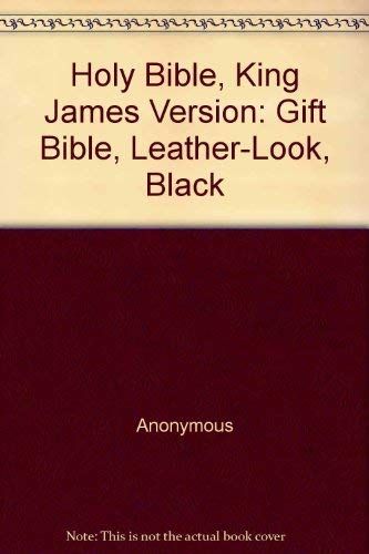 9780310930242: Holy Bible, King James Version: Gift Bible, Leather-Look, Black