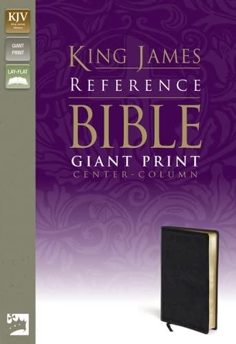 9780310931744: KJV, Reference Bible, Giant Print, Bonded Leather, Black, Red Letter Edition
