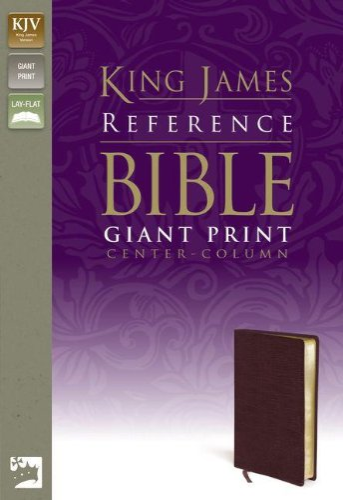 9780310931751: KJV, Reference Bible, Giant Print, Bonded Leather, Burgundy, Red Letter Edition