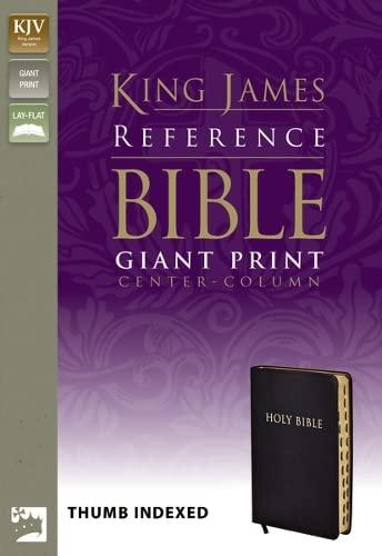 9780310931775: KJV, Reference Bible, Giant Print, Bonded Leather, Black, Indexed, Red Letter Edition (King James Reference Line)