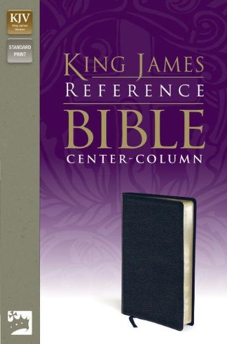 9780310931829: Holy Bible: King James Version, Navy, Premium Leather-look, Reference Bible