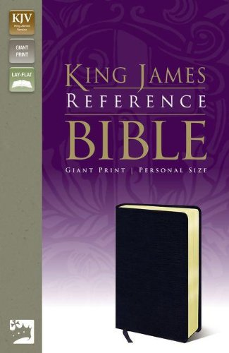 9780310931980: KJV, Reference Bible, Giant Print, Personal Size, Bonded Leather, Navy, Red Letter Edition