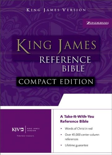 9780310932055: KJV, Reference Bible, Compact, Bonded Leather, Burgundy, Red Letter Edition