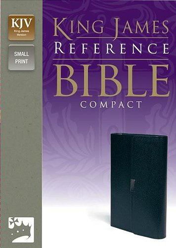 9780310932109: KJV, Reference Bible, Compact, Bonded Leather, Navy, Red Letter Edition