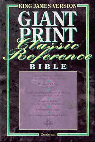 King James Version Giant Print Classic Reference Bible: Navy Blue Bonded Leather: Zondervan