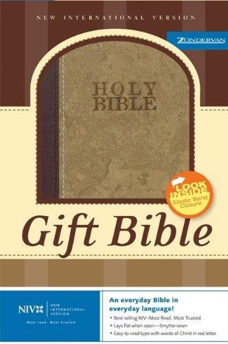 9780310933199: NIV Gift Bible Rustic Brown w/ Strap Italian Duo-Tone™