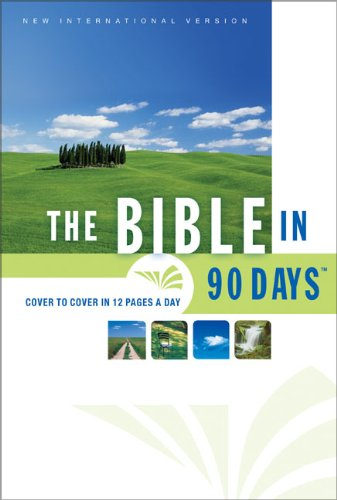 9780310933519: Bible in 90 Days-NIV-Thinline Large Print: Cover to Cover in 12 Pages a Day (New International Version)