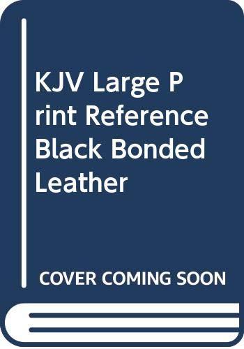 9780310933670: KJV Large Print Reference Black Bonded Leather