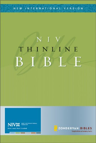 NIV Thinline Bible, Bonded Leather Black, Thumb-Indexed (New International Version)