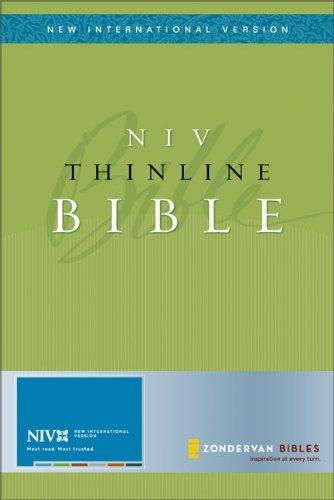 NIV Thinline Bible, Bonded Leather Black, Thumb-Indexed (New International Version): Zondervan
