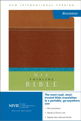 NIV Thinline Bible, Italian Duo-Tone, Tan/Dark Tan: Italian Duo-Tone