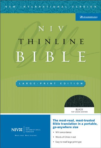 NIV Thinline Bible, Large Print (New International Version): Zondervan