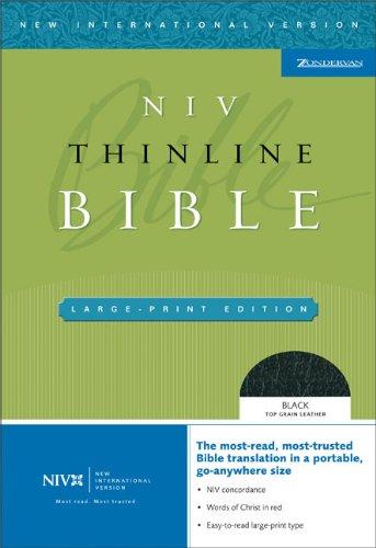NIV Thinline Bible, Large Print (New International: Zondervan