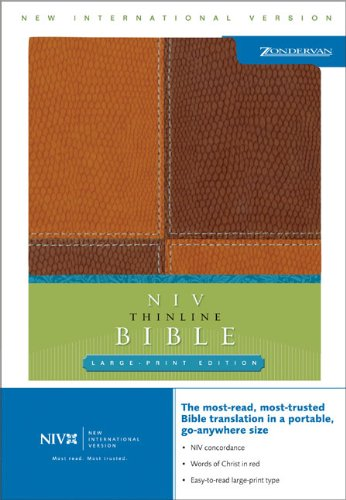 NIV Thinline Bible, Large Print (New International: Italian Duo-Tone
