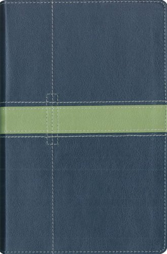 NIV Thinline Bible Italian Duo-Tone Midnight Blue / Moss Green: Zondervan