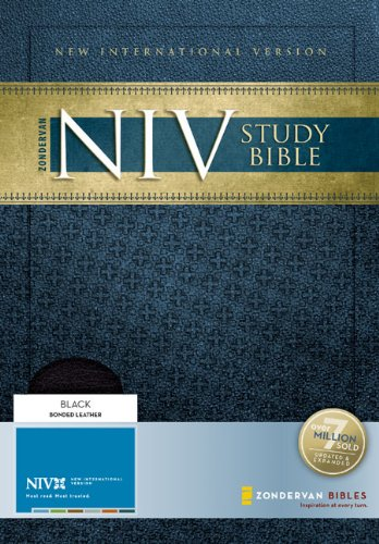 9780310939009: Holy Bible: New International Version, Black, Bonded Leather, Study Bible