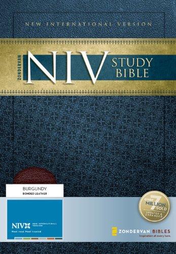 9780310939108: Zondervan NIV Study Bible: New International Version, Burgundy, Bonded Leather, Study Bible 2008 Update