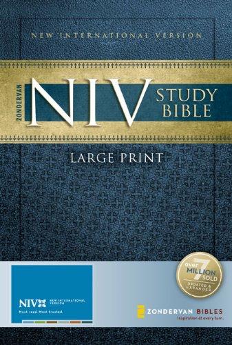 9780310939238: Zondervan NIV Study Bible, Large Print