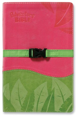 9780310939511: Adventure Bible, NIV Updated, Clip Closure, Italian Duo-Tone, Pink / Green