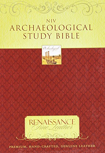 9780310939580: Archaeological New International Version Study Bible: An Illustrated Walk Through Biblical History and Culture, Venetian Brown, Renaissance Fine Leather