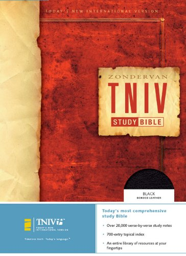 9780310939610: Zondervan TNIV Study Bible: Today's New International Version, Black, Bonded Leather, Study Bible,