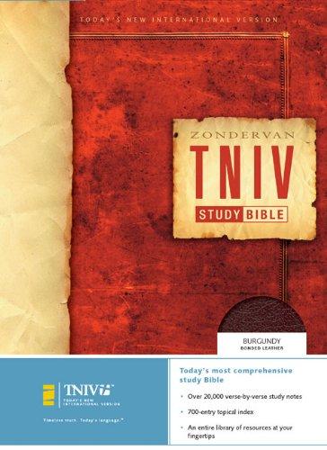 9780310939634: Zondervan TNIV Study Bible: Today's New International Version, Burgundy, Bonded Leather