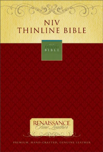 9780310939825: NIV Thinline Bible, Renaissance Fine Leather, Ebony