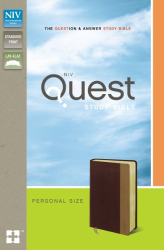 9780310941477: NIV, Quest Study Bible, Personal Size, Imitation Leather, Burgundy/Tan: The Question and Answer Bible