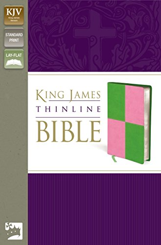 9780310941910: KJV, Thinline Bible, Imitation Leather, Green/Pink, Red Letter Edition