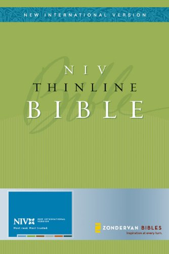 NIV Thinline Bible, Bonded Leather, Brown (New: Zondervan