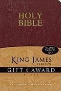 9780310949091: KJV, Gift and Award Bible, Imitation Leather, Burgundy, Red Letter Edition