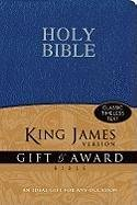 9780310949114: KJV, Gift and Award Bible, Imitation Leather, Blue, Red Letter Edition