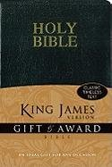 9780310949138: KJV, Gift and Award Bible, Imitation Leather, Black, Red Letter Edition