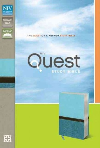 9780310949657: NIV Quest Study Bible: The Question & Answer Bible: NIV Turquoise / Caribbean Blue Italian Duo-Tone