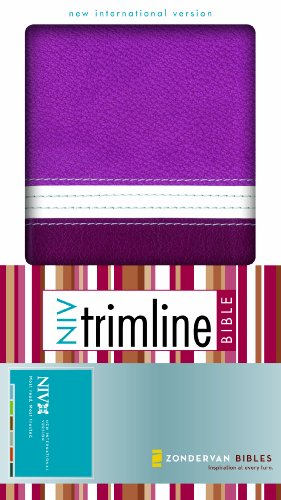 9780310950158: NIV, Trimline Bible, Imitation Leather, Brown/Pink, Red Letter Edition