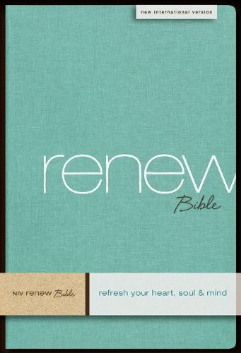 9780310950851: NIV, Renew Bible, Hardcover, Green Linen: Refresh Your Heart, Soul and Mind