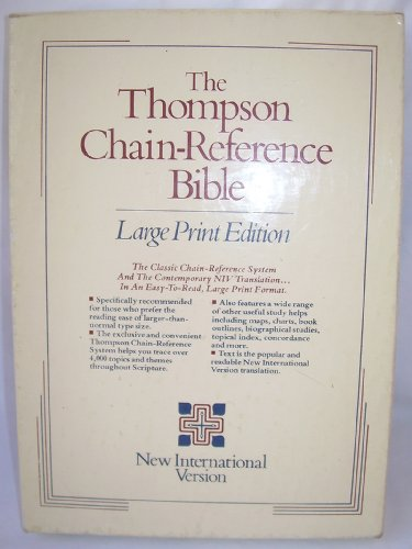 9780310956020: Holy Bible, New International Version: Chain-Reference Bible, Red Letter, Burgundy Bonded Leather